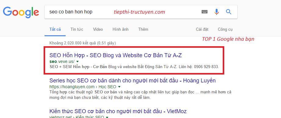 SEO Onpage 10 bước cơ bản để Lên Top 1 Google.